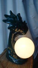 lampe globe vintage 80's céramique palmier et opaline