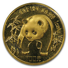 1986 1 oz Gold Chinese Panda Coin - Sealed in Plastic - SKU #10974