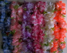 Pack of 6 Flower garlands Leis 120 cm - Hawaiian  Party!!!  Assorted Colours
