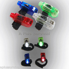 2 Pack of LED Finger Emergency Survival Flashlights - Red Color with White Light