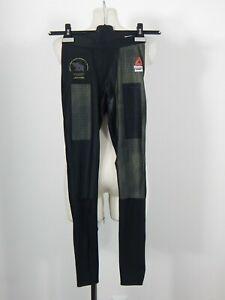 Reebok Crossfit men's black olive green compression tights leggings size S