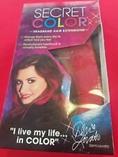 Secret Color  Headband Hair Extensions  by Demi Lovato New As Seen On TV -  RED