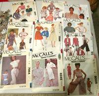 Lot of TEN McCall's patterns, Size Miss Medium/16  All UNCUT, Factory Folded