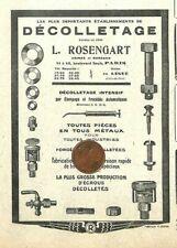 LEGUE (22) DECOLLETAGE ROSENGART PARIS / PUBLICITE 1922