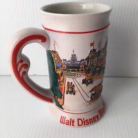 Vintage Walt Disney World Beer Stein Mug 3D Embossed Magic Kingdom Castle Main