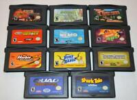 LOT OF 11 NINTENDO GAMEBOY ADVANCE GBA GAMES FINDING NEMO SHARK TALE HERBIE