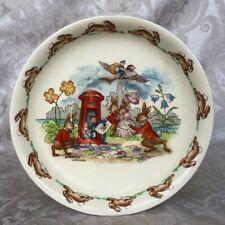 Royal Doulton Bunnykins Saucer Barbara Vernon Vintage Decorative Plate Rabbits