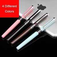 Extra Fine Nib 0.38mm Fountain Pen For Finance Luxury Metal Ink Pens Office Supp