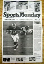 <1995 NY Times newspaper SAN FRANCISCO 49ERS WIN SUPER BOWL v San Diego FOOTBALL
