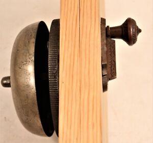 Antique Brass/Cast Iron Victorian Doorbell w Lever Working Mounted c. 1890