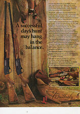 1974 Print Ad of Weatherby Centurion Automatic & The Patrician Pump Shotgun