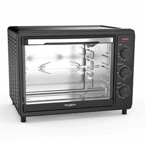 Whirlpool Magicook 30L Oven Toaster Grill  With Rotisserie Twin Heater Black
