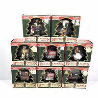Vintage Coca Cola Bottling Works Christmas Tree Ornaments Lot of 8 - 1995-1997