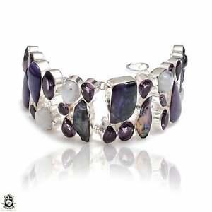 Charoite Moonstone Pearl Amethyst Bracelet B4100