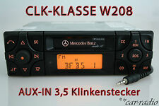 Original Mercedes Audio 10 BE3100 AUX-IN W208 CLK-Klasse C208 Kassette Autoradio