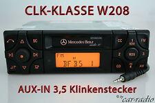 Original Mercedes W208 CLK-Klasse C208 Kassette Autoradio Audio 10 BE3100 AUX-IN