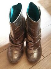 irregular choice rare gold party ankle boots spatz 5 38