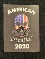 Lot 6 Stickers American Essential Worker 2020 Skull Flag 19 Corona