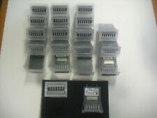 20pcs 6 Digit Mechanical Counter-12Vdc Panel Mounter By Kuebler P/N K46.20.3-Nos