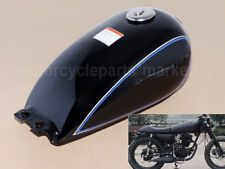 For Suzuki GN125 GN250 2.4 Gallon Motorcycle Cafe Racer Sliver Fuel Gas 9L Tank