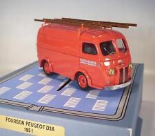 Norev 1/43 Peugeout D3A Pompiers (1951) Ville de Cassis OVP #107