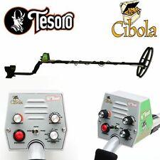 "Tesoro Cibola Black Metal Detector with 11 x 8"" Widescan Search Coil"