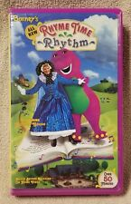 BARNEY'S RHYME TIME RHYTHM Vhs Video Tape 1999 w/ Mother Goose Purple Dinosaur