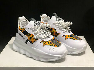 NEW VERSACE Chain Reaction Shoe Sneakers 8.5US 6.5UK 39EU