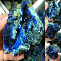 Natural Azurite Malachite Geode Crystal Mineral Specimen Reiki Stone Collectible