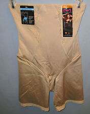 MAIDENFORM~SMALL~2042~Latte Lift Vintage Chic Thigh Slimmer with Lace Shapewear