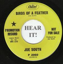 Joe South C & W ROCK 45 (Capitol 2060 PROMO) Birds of a Feather/It Got Away VG+