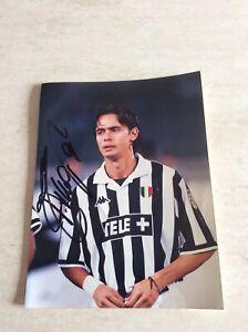 Rarissima foto 20x15 originale Juventus Filippo Inzaghi autografata collezione
