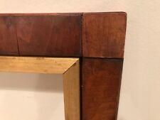 19th Century Large Antique Block Corner Wood American Picture Frame F