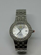 Marc Ecko Professional 50M NYC Stainless Steel Ladies Watch With Rhinestones...