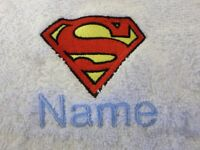 Hooded towel robe Nameplate Football Embroidered up to towels