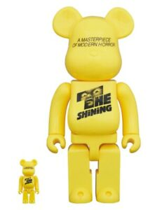 BE@RBRICK THE SHiNiNG POSTER 100% & 400% MEDICOM TOY figure Bearbrick yellow