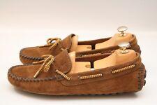 Louis Vuitton Mens Suede Tan Brown Loafers Shoes UK 7 US 8 EU 41