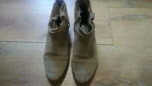 Pre-Owned Joie Leather Brown Ankle Booties 38.5
