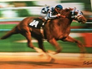 Secretariat Print An American Legend Signed by Ron Turcotte and Charlie Davis
