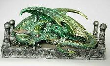 grüner Fantasy Drache Dragon's Den, 20 cm lang / breit, Figur