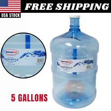5 Gallon Reusable Bottle Container Water Large American Made Durable Plastic Jug