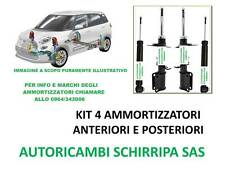 KIT 4 AMMORTIZZATORI ANT E POST  FIAT PUNTO 188 1.2 BENZINA 1.3 JTD GPL NATURAL