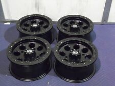 "14"" POLARIS SPORTSMAN XP850 BEADLOCK BLACK ATV WHEELS NEW SET 4 - LIFE WARRANTY"