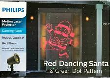 Philips Motion Projector - Red Dancing Santa and Green Dot Pattern (Red/Green)