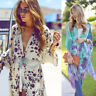 Summer Women Boho Floral Kimono Cardigan Chiffon Tops Blouse Ladies Beach Coat