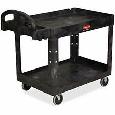 Rubbermaid Commercial Products 2 Shelf Utilityservice Cart Medium Lipped She