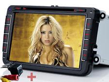 Rückfahrkamera+ Autoradio Bluetooth GPS DVD NAVI Für VW GOLF PASSAT CADDY TOURAN