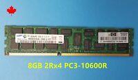 HP 1x 8GB 2RX4 DDR3 PC3-10600R RAM 500205-071 DL360 DL380 DL580 G6 G7 Z800 Z600