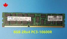 HP 8GB 2RX4 DDR3 PC3-10600R RAM 500205-071 DL360 DL380 DL580 G6 G7 Z800 Z600