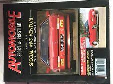 AUTOMOBILES SPORTIVES ET PRESTIGE N°12 1990 SPECIALE MVS VENTURI MAZDA MX 5
